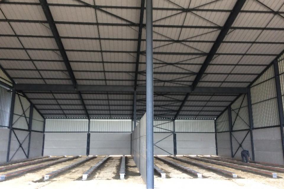 Construction d'un bâtiment industriel de stockage agricole en Côte d'Or