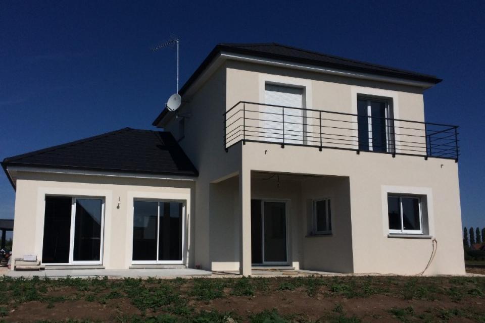 Construction d'une villa à Auxonne-fin des travaux